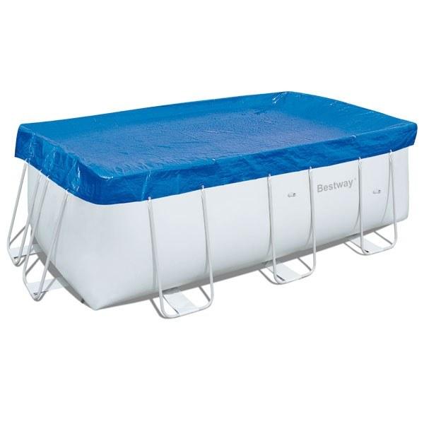 bache de protection pour piscine tubulaire rectangulaire
