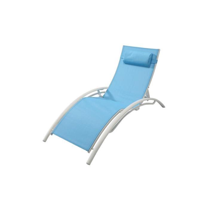 bain de soleil textilene bleu