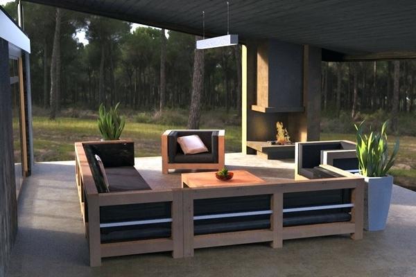 canape exterieur en bois