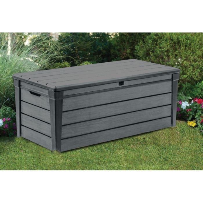 coffre de rangement exterieur gris - Agencement de jardin aux meilleurs prix