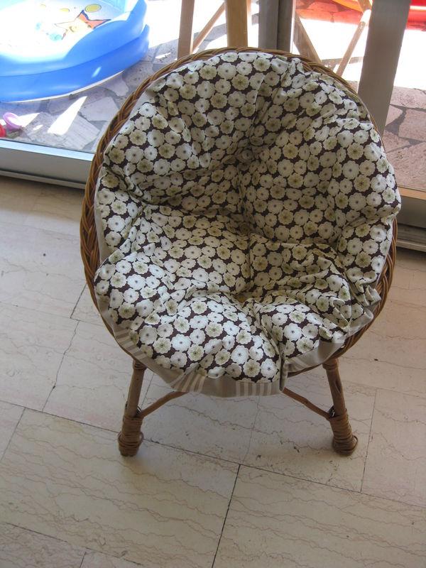 coussin rond pour fauteuil exterieur - Agencement de ...