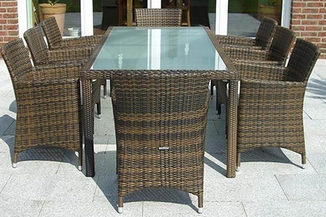 ensemble table et chaise de jardin resine tressee ...