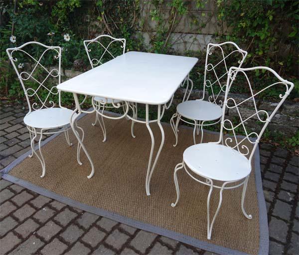 fauteuil de jardin fer forge - Agencement de jardin aux ...