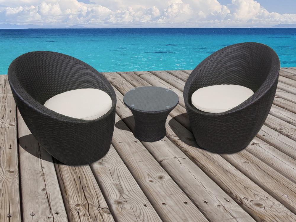 fauteuil salon de jardin resine tressee - Agencement de ...