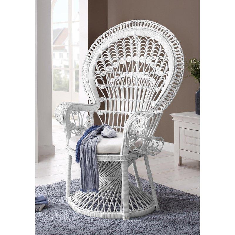 fauteuil tresse blanc