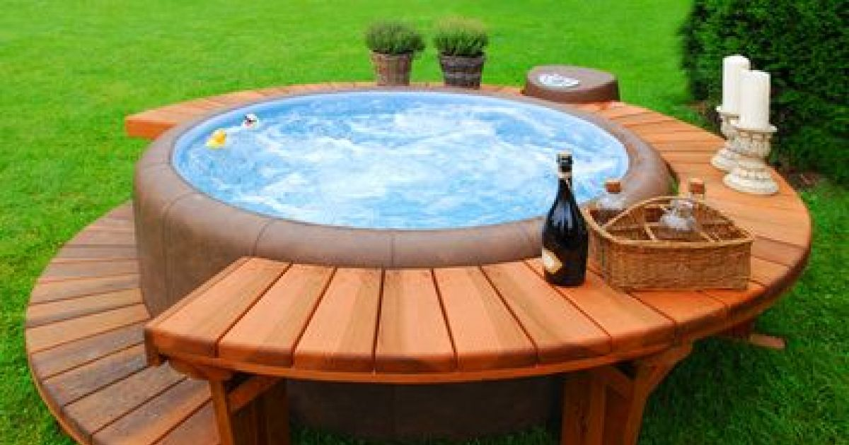 installation jacuzzi gonflable