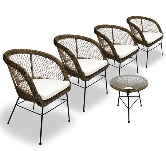 meuble jardin rotin synthetique - Agencement de jardin aux ...