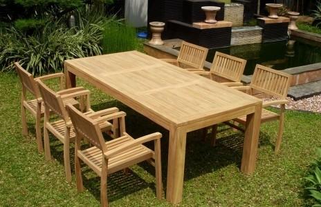 mobilier de jardin en teck massif - Agencement de jardin aux ...