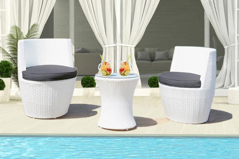 salon de jardin blanc design - Agencement de jardin aux ...