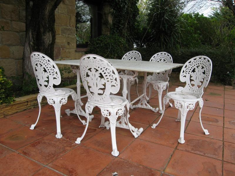 Awesome Table De Jardin Fonte Aluminium Gallery - House ...