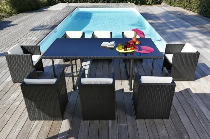 Awesome Salon De Jardin Java Gris Clair Pictures - House Design ...