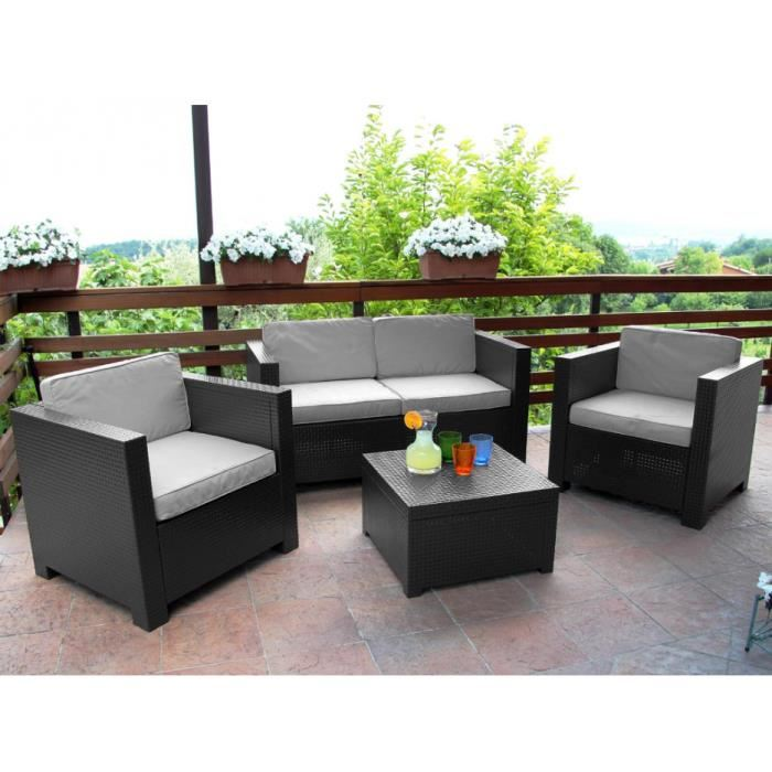 salon de jardin pas cher en plastique agencement de. Black Bedroom Furniture Sets. Home Design Ideas