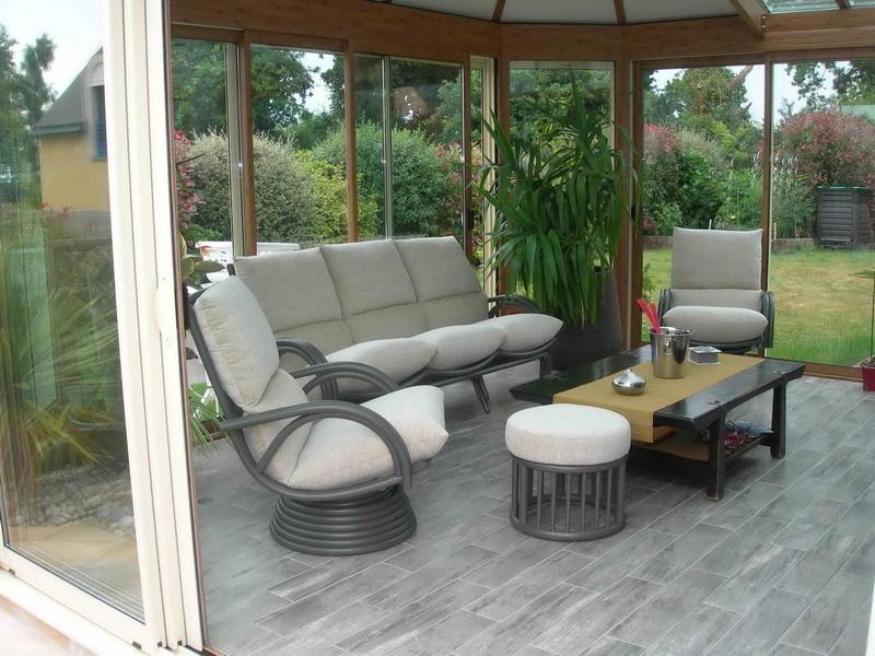 salon en osier pour veranda