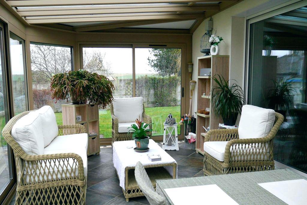 Salon Veranda Resine Tressee Agencement De Jardin Aux