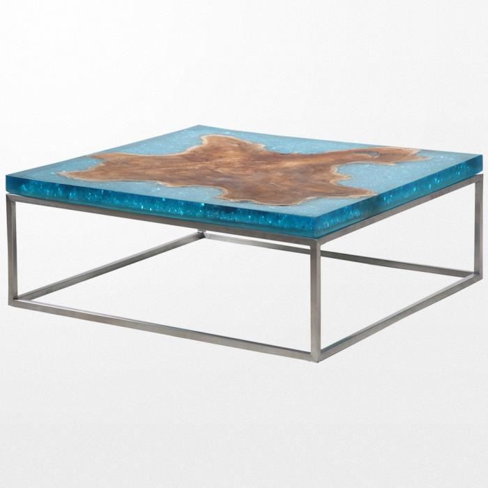 table basse en resine