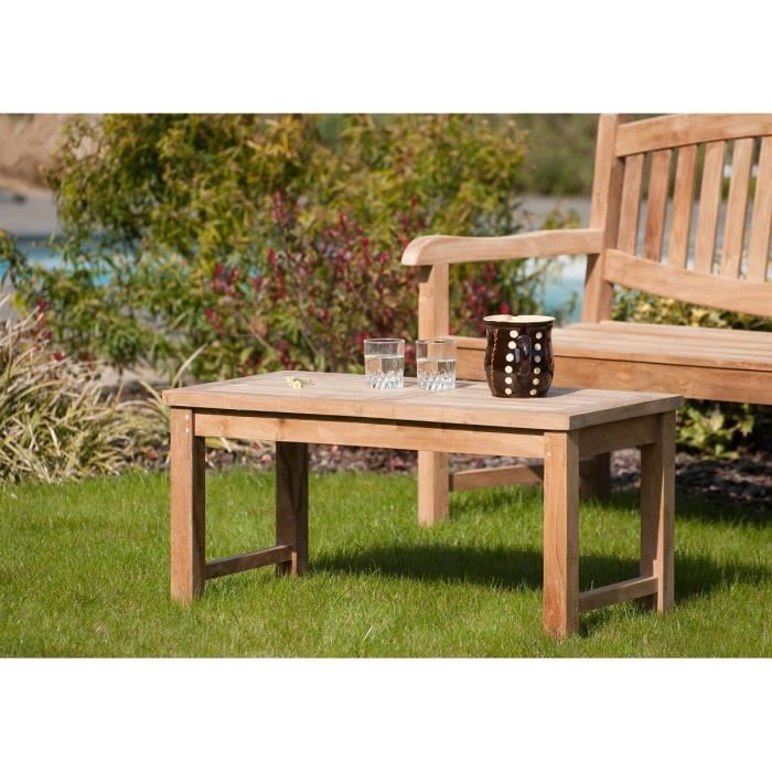 Table basse jardin teck pas cher agencement de jardin - Table plus chaise de jardin pas cher ...