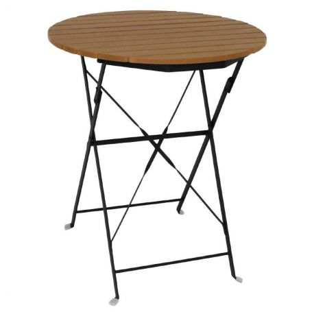 table bistrot rectangulaire bois