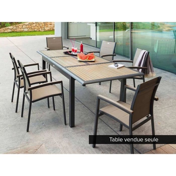 Table De Jardin Composite.Table Composite Extensible Agencement De Jardin Aux