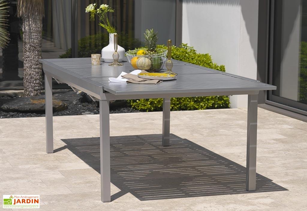 table de jardin en aluminium avec rallonge  agencement de