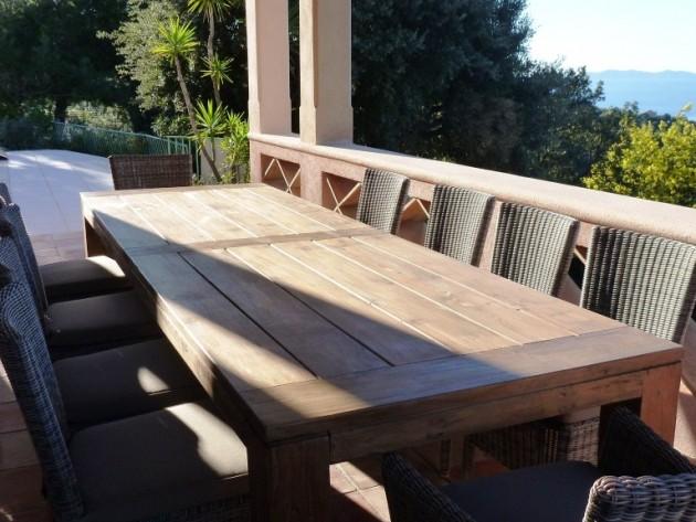 Table de jardin en bois agencement de jardin aux meilleurs prix - Agencement jardin ...