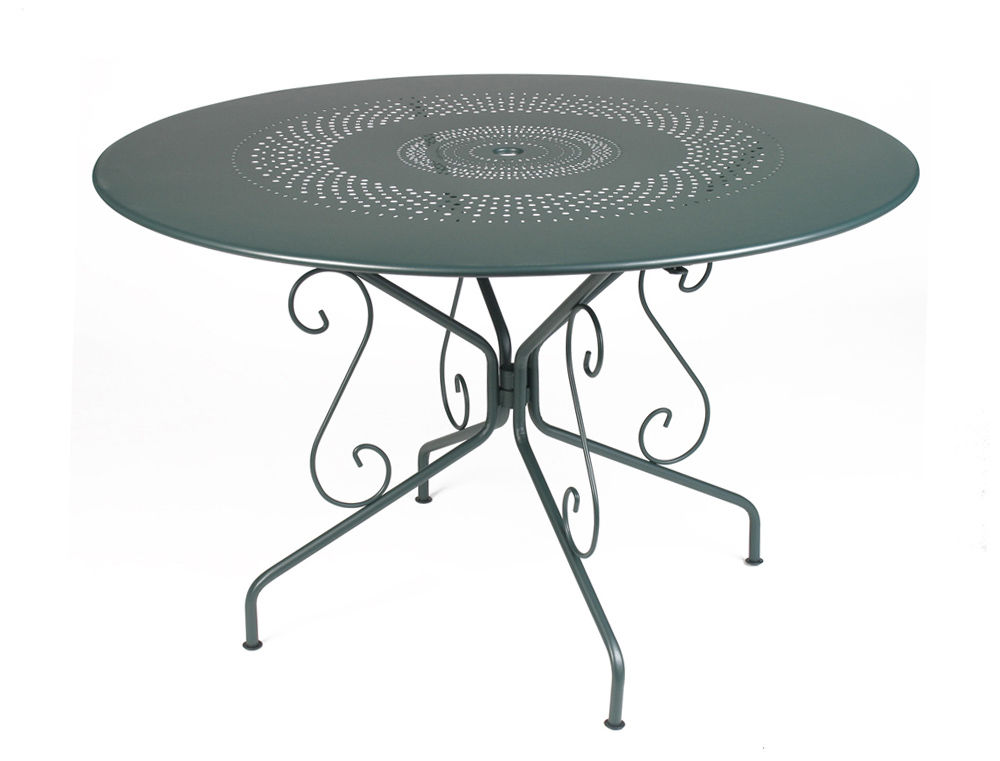 table de jardin metal ronde - Agencement de jardin aux ...