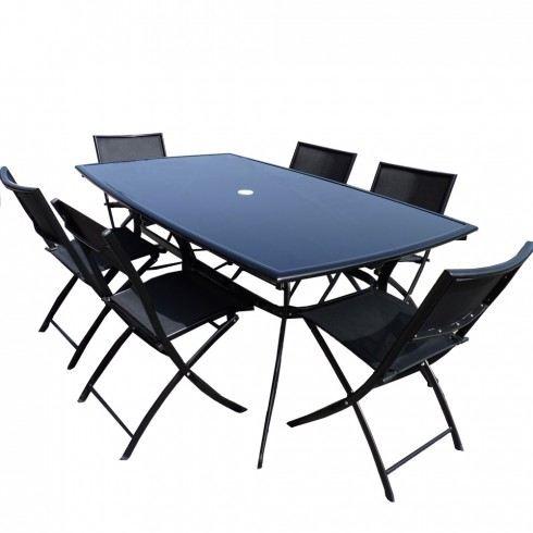Table de jardin noir pas cher agencement de jardin aux - Table de jardin tresse pas cher ...