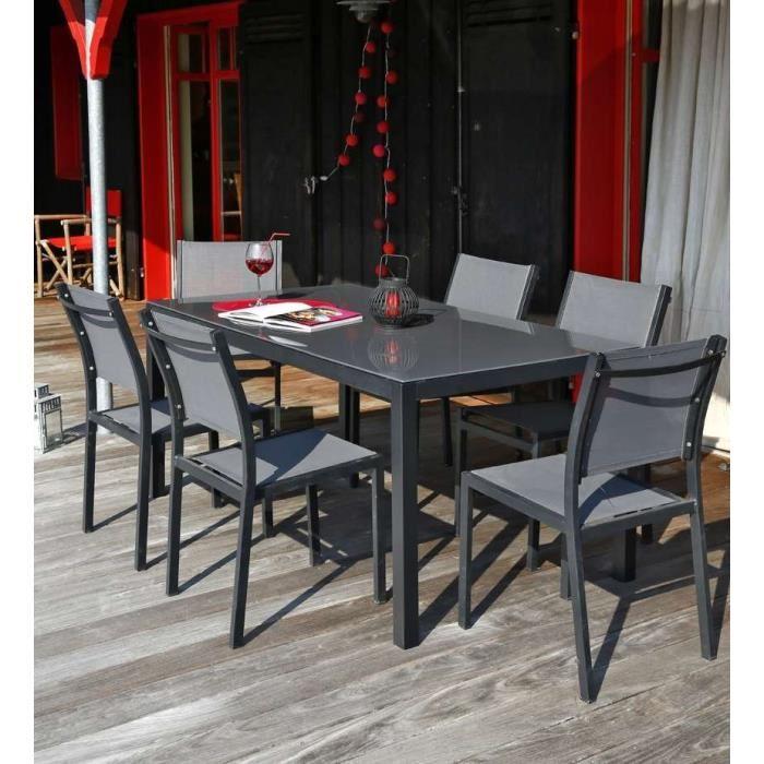 Table et chaise de jardin en alu pas cher agencement de - Table de jardin tresse pas cher ...
