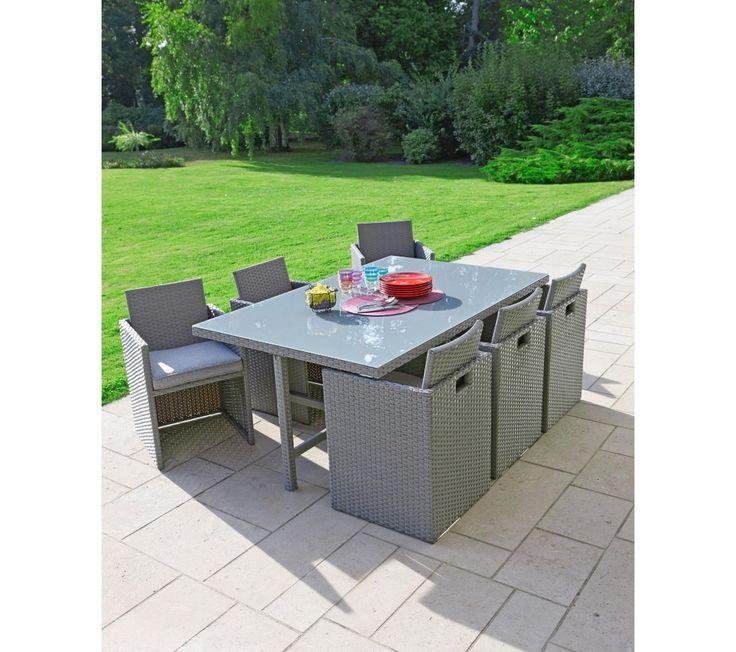 table et chaise de jardin en resine encastrable - Agencement ...