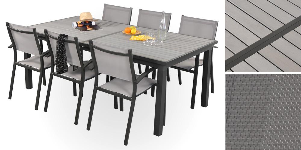 table jardin gris - Agencement de jardin aux meilleurs prix