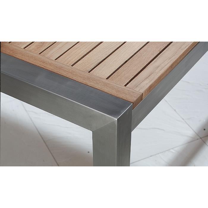 table jardin inox et bois - Agencement de jardin aux ...
