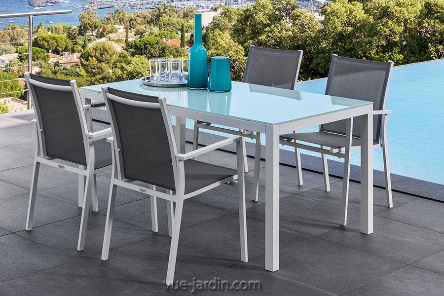 table jardin plateau verre - Agencement de jardin aux meilleurs prix
