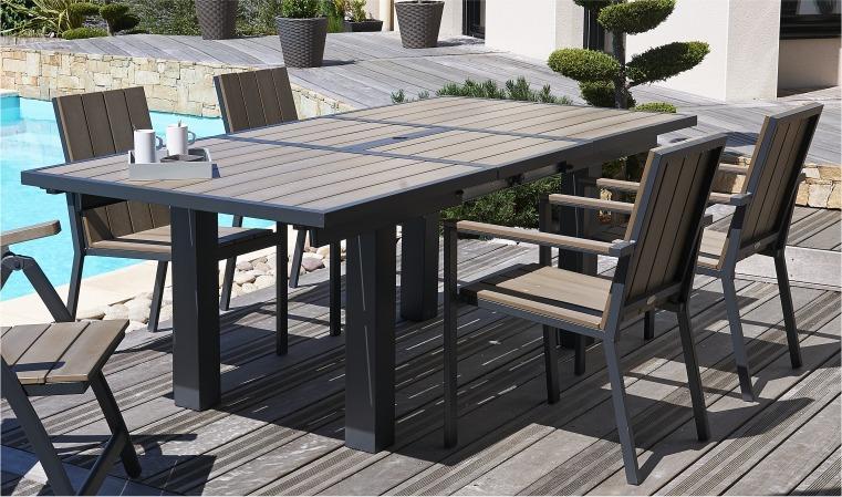 table rallonge papillon aluminium et composite - Agencement ...