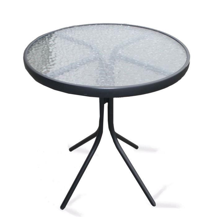 Awesome Table De Jardin Ronde En Verre Photos - House Design ...