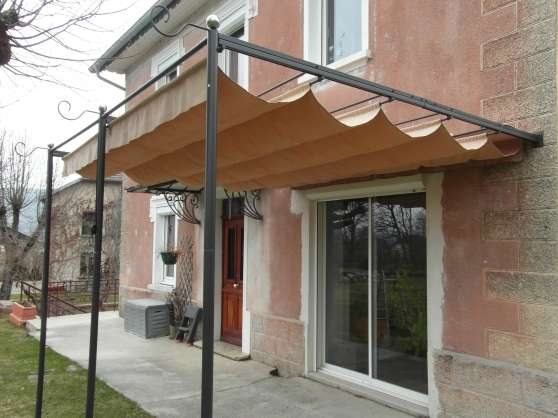toile pergola retractable