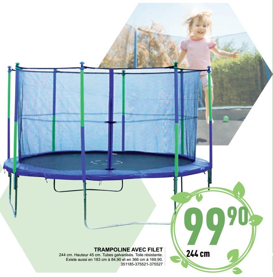trampoline en promotion