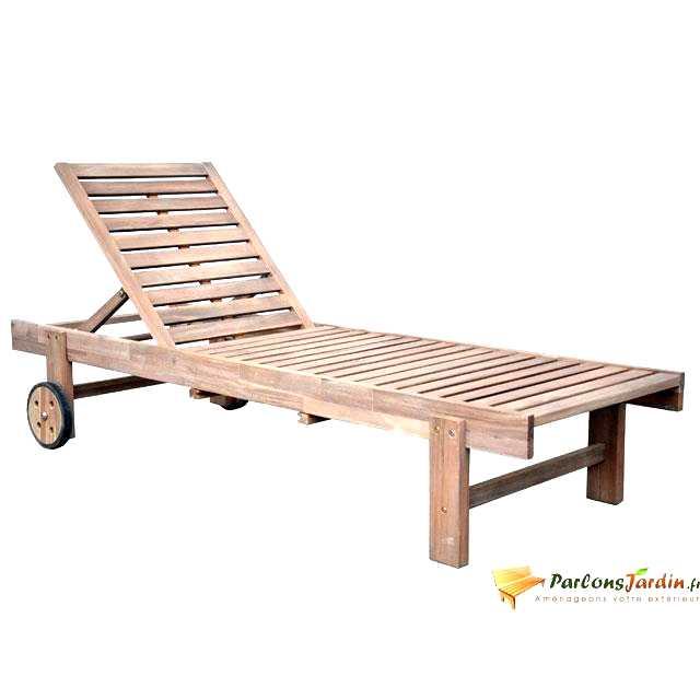 transat jardin bois - Agencement de jardin aux meilleurs prix